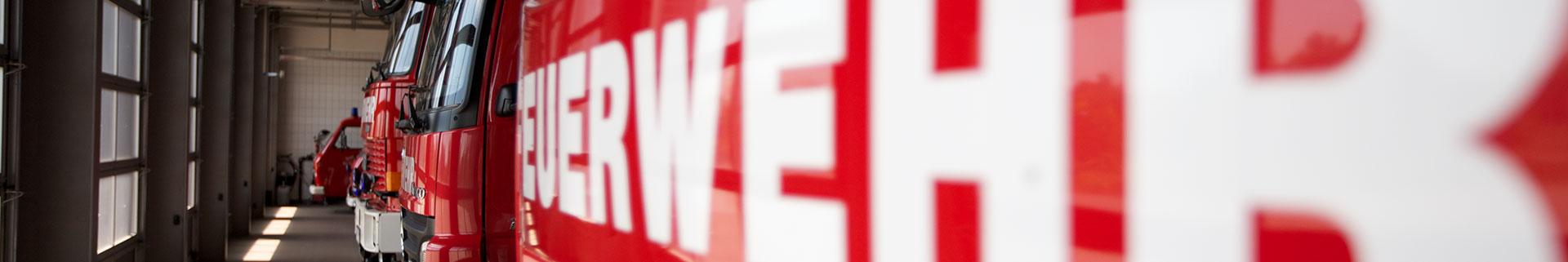 Banner Feuerwehrschrift